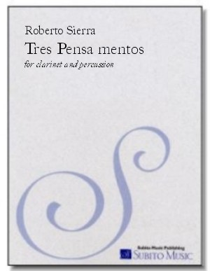 Tres Pensamentos for bass clarinet & percussion