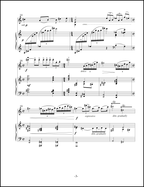 Sonata No. 1 for Violin & Piano