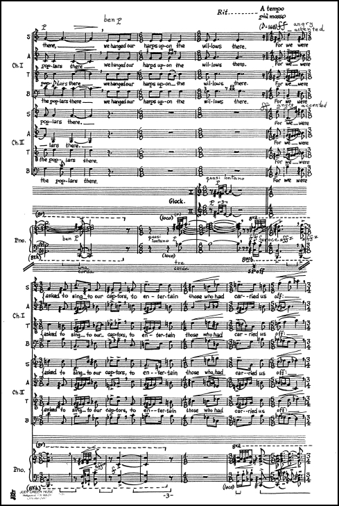 Lamentations for soloists, chorus, percussion & piano