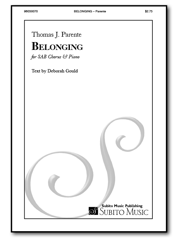 Belonging for SAB Chorus & Piano