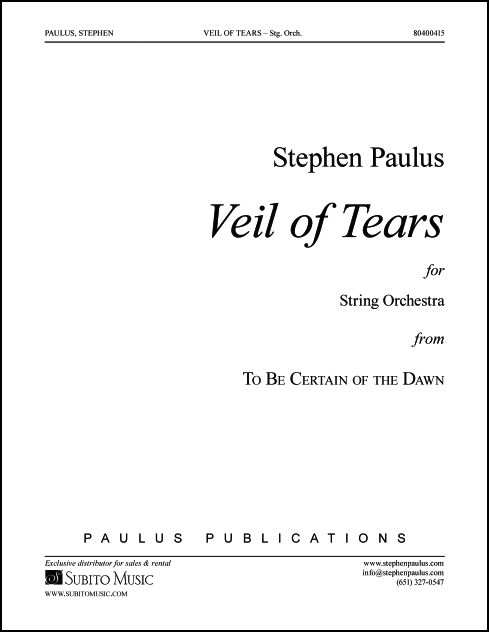 Veil of Tears (study score) for Strings